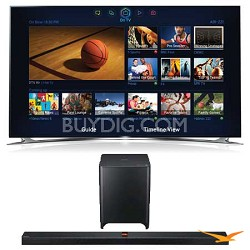 UN60F8000 60 inch 1080p 240hz 3D Smart Wifi TV + HW-F850 Soundbar Bundle