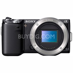 NEX5N/B - Compact Interchangeable Lens Digital Camera Body (Black)- OPEN BOX