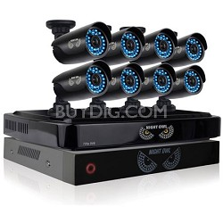 Battery Backup HD 720p 8 Channel AHD Security System, 8 x 720p Cameras