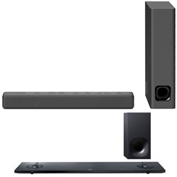 Mini Sound bar with Wireless Subwoofer Black HTMT300/B with Sound Bar