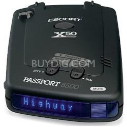 PassPort 8500 X50 Radar Detector with Blue Display