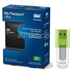 My Passport Ultra 1 TB USB 3.0 Portable Haddrive + Lexar 32GB Flash Drive
