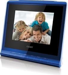 "3.5"" (4:3) Digital Photo Frame with Alarm Clock Blue"