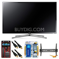 "UN60F6300 60"" 120hz 1080p WiFi LED Slim Smart HDTV Wall Mount Bundle"
