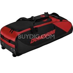 D-Team Wheeled Bat Bag, Red