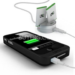 EXERA POWER SYSTEM Swappable Battery Case and Dock for iPhone Black/Black