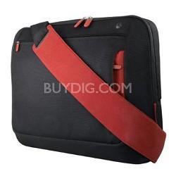 """Messenger Bag for Notebooks  up to 15.4"""" Jet/Cabernet"""