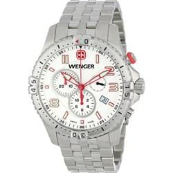 Men's Squadron Chrono Watch - White Dial/Stainless Steel Bracelet - OPEN BOX
