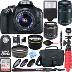 EOS Rebel T6 DSLR Camera with EF-S 18-55mm & 55-250mm IS II Lens + Accessory Kit