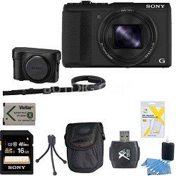 Cyber-shot DSC-HX50V WiFi Digital Camera 16 GB and Battery Bundle