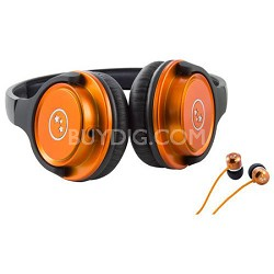 Musician's Choice Stereo Headphone Plus Sound Isolation Earbuds - Orange