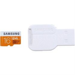 16GB EVO Class 10 microSD Card w/ USB 2.0 Card Reader - MB-MP16DC/AM