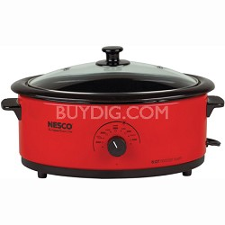 6-Quart Roaster Oven with Glass Lid - Red (4816-12G)
