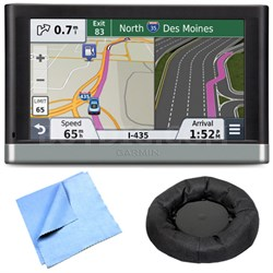 "2557LMT 5"" GPS Navigation System w/ Lifetime Maps Traffic Friction Mount Bundle"