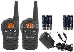 LXT114VP 22-Channel 18-Mile GMRS Radio w/ Rechargeable Batteries & Wall Charger