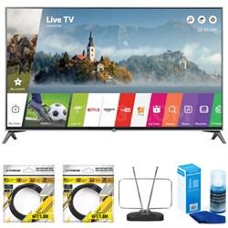 """49"""" Super UHD 4K HDR Smart LED TV 2017 Model 49UJ7700 with Cleaning Bundle"""
