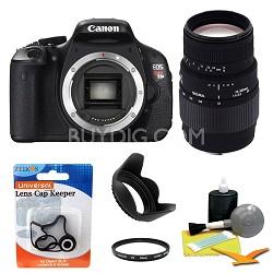 EOS Digital Rebel T3i 18MP SLR Camera Body w/ Sigma 70-300mm Lens