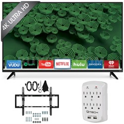 D50u-D1 D-Series - 50-Inch 120Hz 4K Ultra HD LED Smart HDTV Tilt Mount Bundle