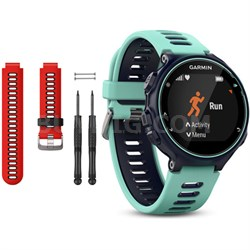 Forerunner 735XT GPS Running Watch with Red Band Bundle - Midnight Blue