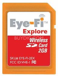 2GB Explore -Wireless Photo Uploads,Geotagging and Hotspot Access