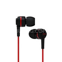 ES18 - In-Ear Headphones (Black/Red)