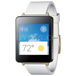 Android Wear Water/Dust Resistant White Smart G Watch - Manufacturer Refurbished