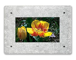 Frosted Floral Glass Faceplate for 8-inch Digital Frames