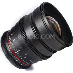 "24mm T1.5 ""Cine"" ED UMC Wide-Angle Lens for Sony A VDSLR"