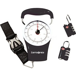 Luggage Scale and Combination Lock Kit - Black