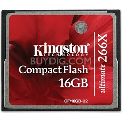 16GB Ultimate Compact Flash 266x Memory Card