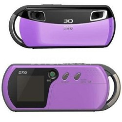 DXG USA 3D Camera and 3D Viewer Lavender
