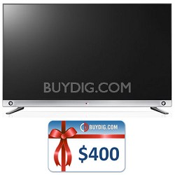 65-Inch 240Hz 3D Nano-Full LED 4K UHDSmartTV (65LA9650) Bundle