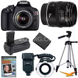 EOS Rebel T5 SLR Digital Camera Macro Photographer Bundle
