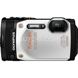 TG-860 Tough Waterproof 16MP Digital Camera with 3-Inch LCD - White
