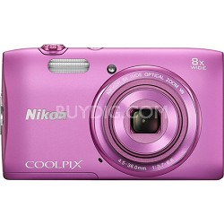 "COOLPIX S3600 20.1MP 2.7"" LCD Digital Camera with 720p HD Video - Pink"