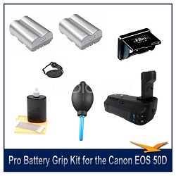 Fully Loaded Pro Battery Grip Kit for the Canon EOS 50D