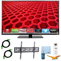 E390i-B - 39-Inch Smart LED HDTV 1080p 120Hz Plus Tilt Mount & Hook-Up Bundle