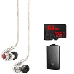 SE846 Earphones w/ Quad HD MicroDrivers & True Subwoofer, FiiO A3 Amp Bundle