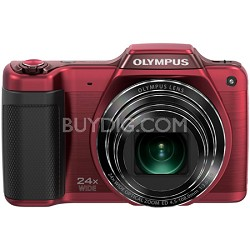 STYLUS SZ-15 16MP 24x SR Zoom 3-inch Hi-Res LCD - Red