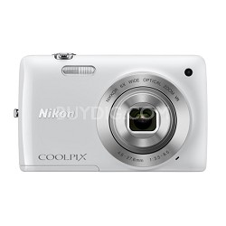 COOLPIX S4300 16MP 3-inch Touch Screen Digital Camera - White