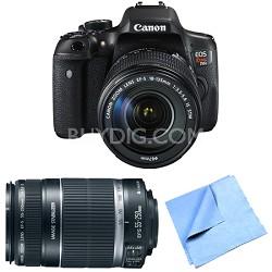 EOS Rebel T6i Digital SLR Camera with 18-135mm and 55-250mm Lens Bundle