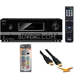 7.1 Channel 3D Surround Sound AV Receiver (STRDH520) with HookUp Bundle