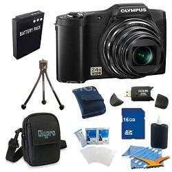 16 GB Kit SZ-12 14MP 3.0 LCD 24x Opt Zoom Digital Camera - Black