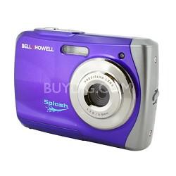 Splash WP7 12MP Waterproof Camera, Anti-Shake, (Purple)