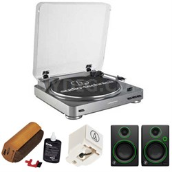 AT-LP60 Turntable w/ Mackie Multimedia Monitors Bundle