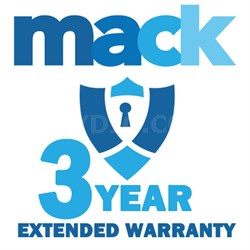 Three Year Extended Warranty Certificate for Audio device valued under $3500