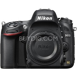 D610 FX-format 24.3 MP 1080p video Digital SLR Camera - Factory Refurbished
