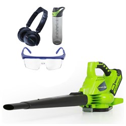 G-MAX 40V 185mph Digipro Blower/Vac w/ Safety Bundle