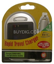 Digital Concepts AC/DC Rapid battery charger for Canon NB-5L and SD850 Batteries