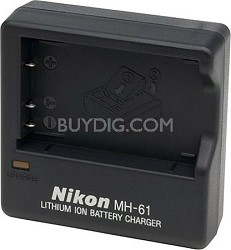 MH-61 battery charger for EN-EL5 rechargeable lithium-ion battery.